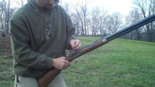 Shooting a .54 caliber Traditions Muzzleloader.