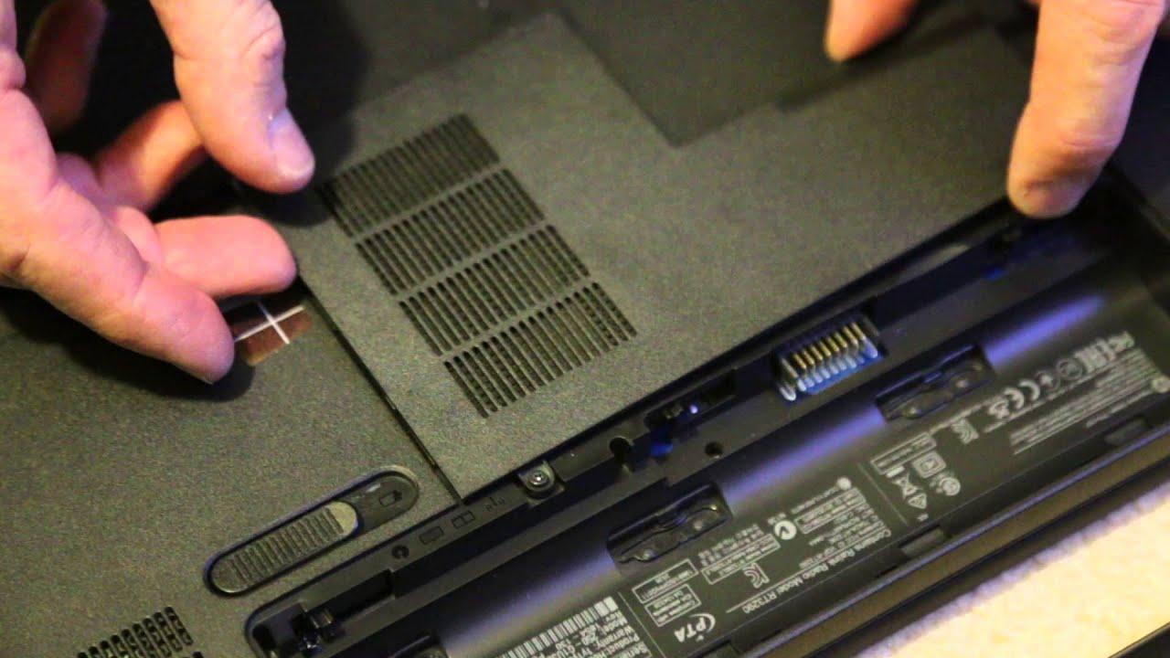 Remove Hard Drive Hewlett Packard Hp250 G1 Notebook