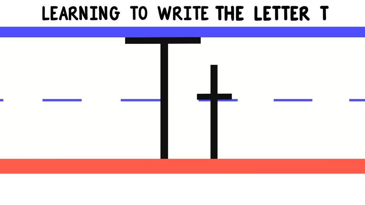 Write The Letter T Abc Writing For Kids Alphabet Handwriting By