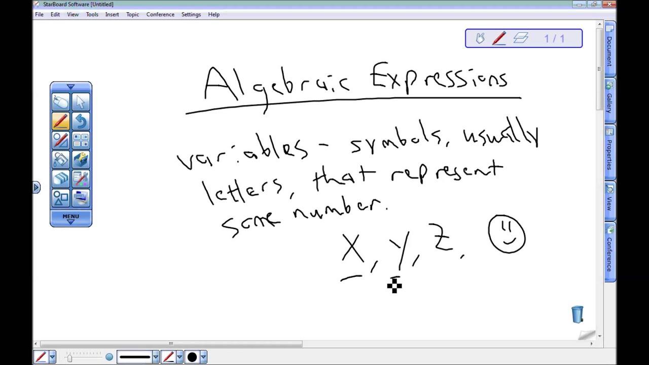 6th grade algebraic expressions