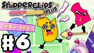 Snipperclips Plus - Gameplay Walkthrough Part 6 - Cosmic Comics! (Nintendo Switch)