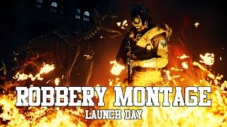 Battlefield Hardline Robbery DLC Launch Day Montage Throwing Knife MP7 RPK