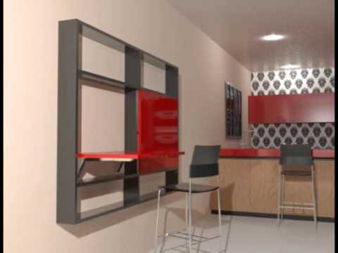 M6 mesa abatible de pared empotrada youtube - Mesa abatible pared ...