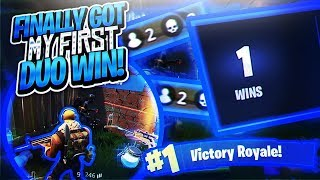 (FORTNITE) FINALLY GOT MY FIRST DUO WIN,I CAME IN CLUTCH & YOU WONT BELIEVE HOW MANY KILLS I HAD!!!!