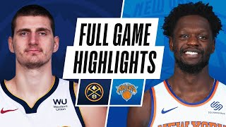 NUGGETS at KNICKS | FULL GAME HIGHLIGHTS | January 10, 2021