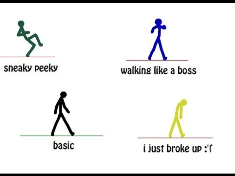 Animate a simple walk cycle: 7 steps.