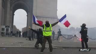 Yellow paint & rubber bullets: Paris descends into chaos as protests continue