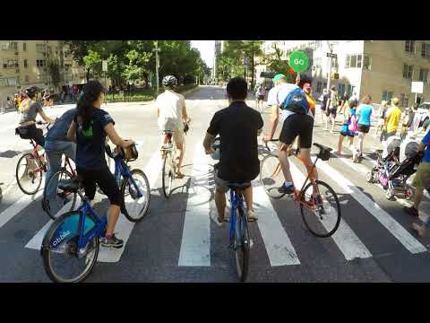 Cycling full route of NYC Summer Streets 2017