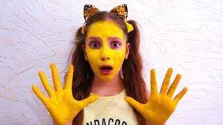 my face and my hands are yellow  وجهي ويدي سوداء   is a new video from Andrei & Irochka info