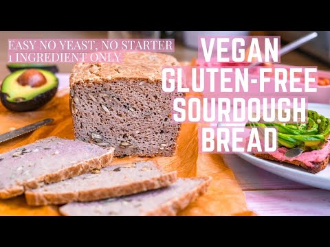 GLUTEN-FREE VEGAN EASY SOURDOUGH BREAD/NO YEAST, NO STARTER/1 INGREDIENT/HOW TO MAKE AVOCADO ROSE