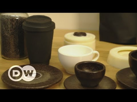 Making coffee cups from coffee waste | DW English