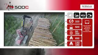Video brochure of Nisula 500C harvester head