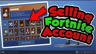 **SOLD** SELLING FORTNITE ACCOUNT WITH **RARE** SKINS $300