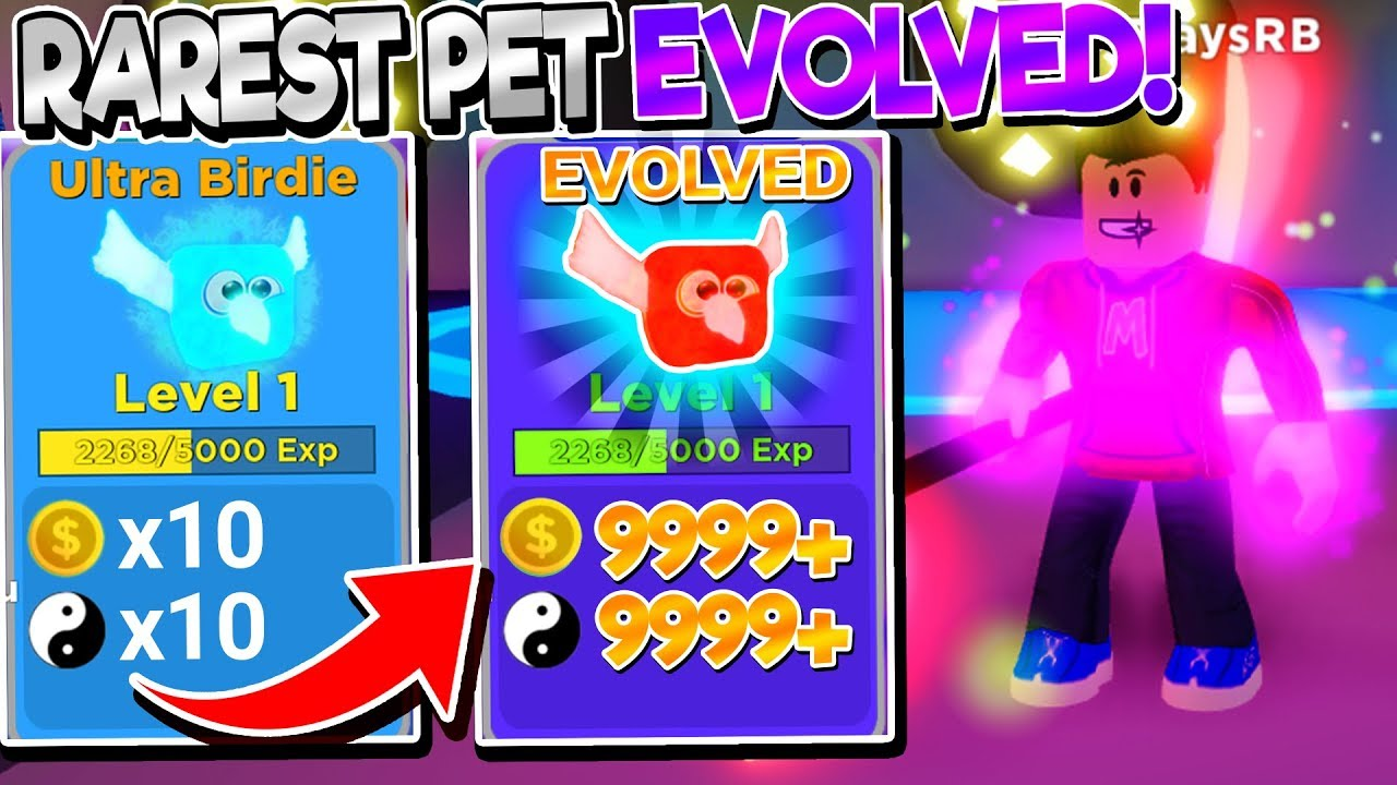 I Evolved The Rarest Pet In Ninja Legends So Op Roblox - roblox evolution if a game serious real ii update roblox