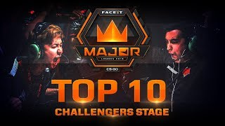 TOP 10 Plays of Challengers Stage feat. smooya, yay, xccurate! (FACEIT Major: London 2018)