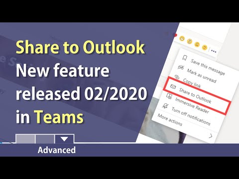 MS Teams: Share A Teams Conversation To Outlook By Chris Menard
