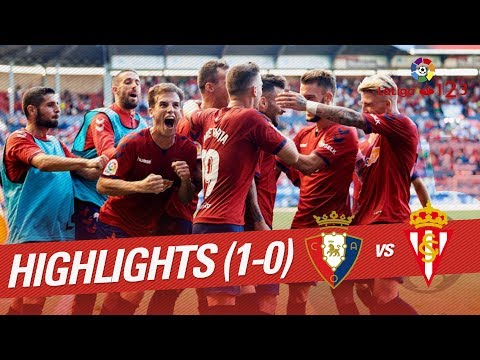 Resumen de CA Osasuna vs Real Sporting (1-0)