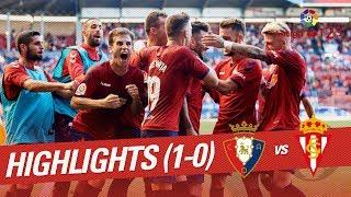 Resumen de CA Osasuna vs Real Sporting (1-0)