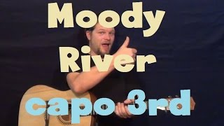 Moody River (Pat Boone) Easy Guitar Lesson How to Play Tutorial Capo 3rd Fret
