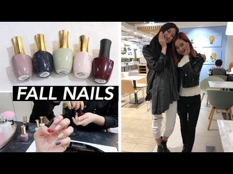 Autumn Nails, Grocery Haul, & Hongdae with Angela 👯
