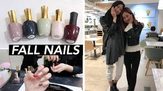 autumn nails grocery haul hongdae with angela