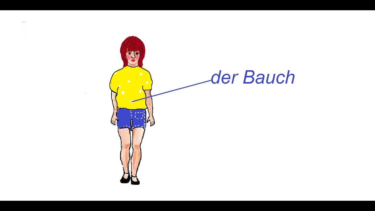 KÖRPERTEILE LERNEN AUF DEUTSCH - YouTube