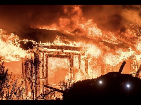 """Breaking:""""Massive Wildfires Napa Valley California Thousands Evacuated"""""""