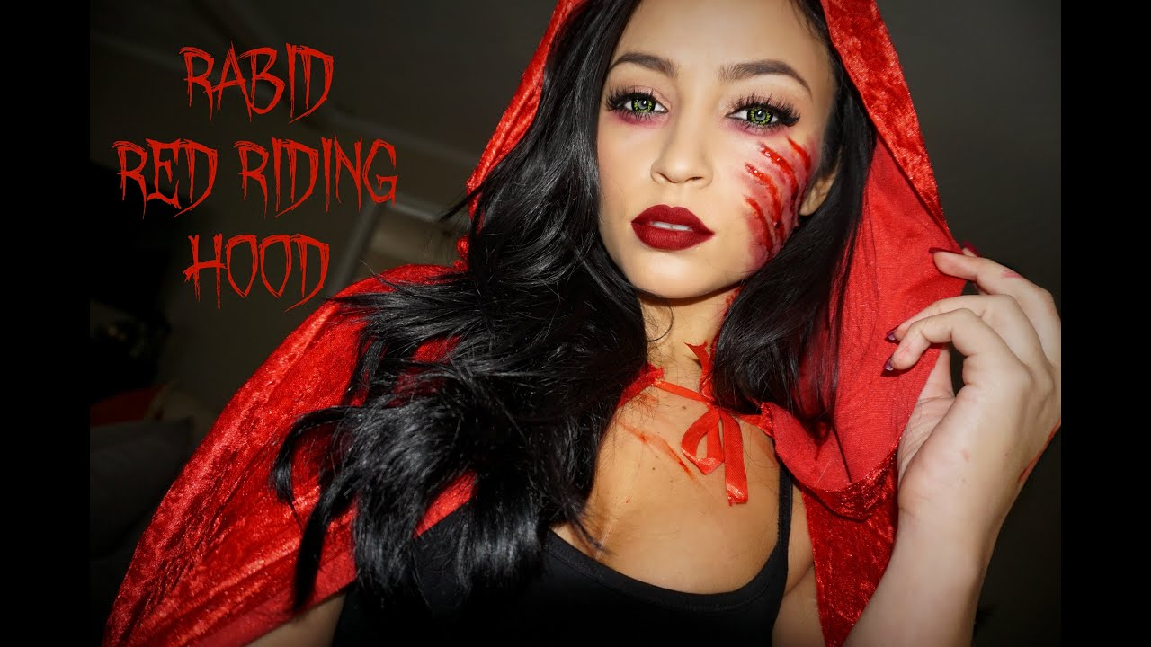 rabid red riding hood halloween tutorial stephanie ledda youtube - Halloween Tutorials