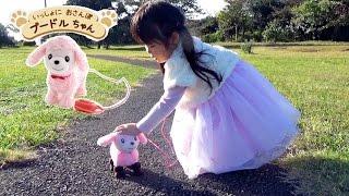 リアル おさんぽごっこ 💛 マザーガーデン いっしょにおさんぽ プードルちゃん クーファンバギー で公園にも行ったよ 💛 MOTHER GARDEN おもちゃ thumbnail