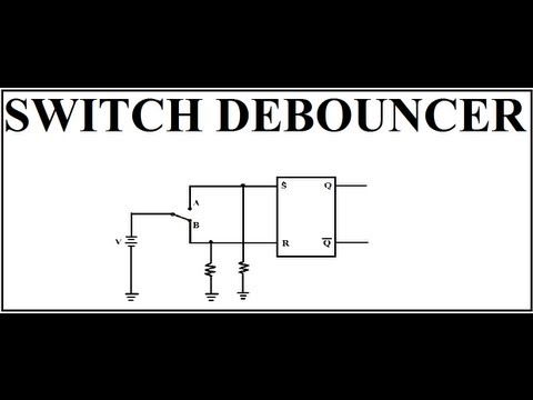 Switch Debouncer : Application of SR Latch