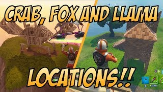 Crab, Fox and Llama Locations - Fortnite Battle Royale (Battle Pass Weekly Challenge)
