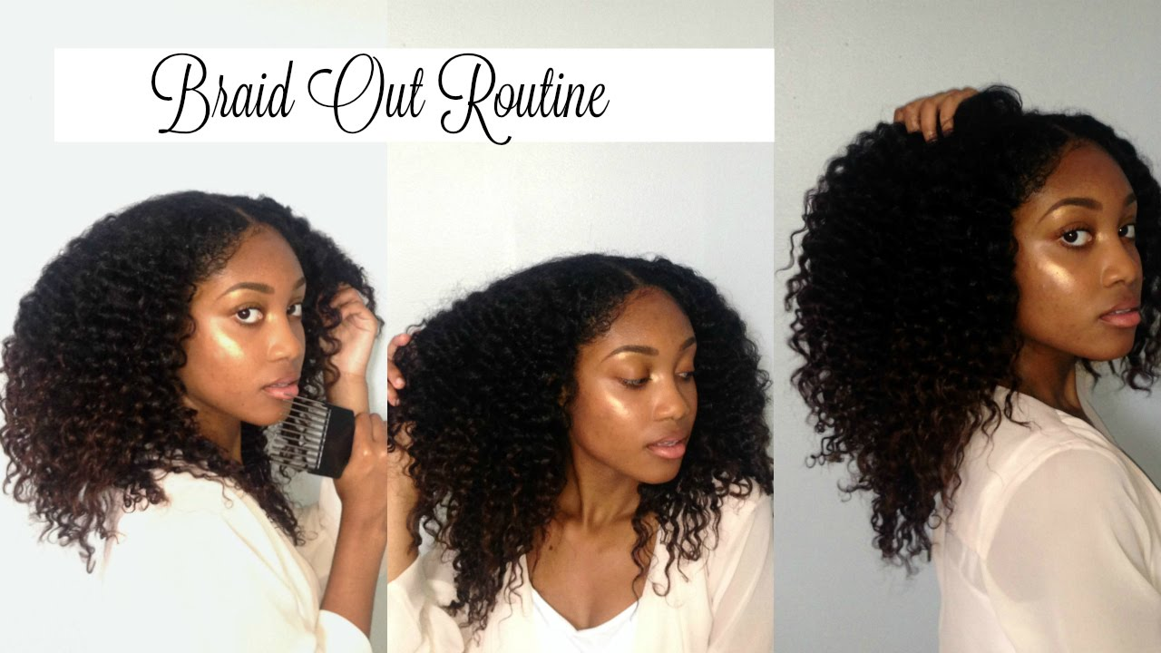 Braid Out Routine Talk Through Transitioning Hair Youtube