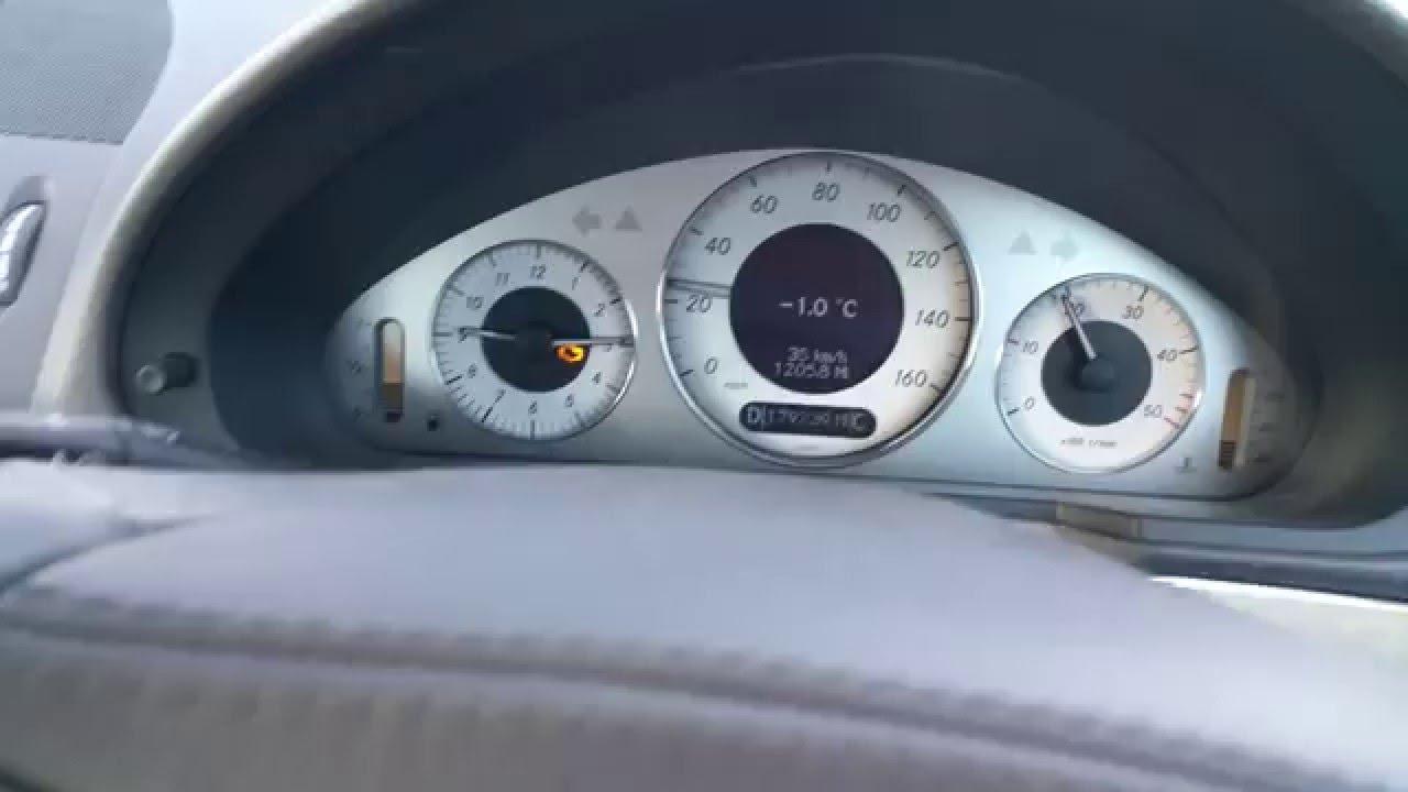 Mercedes e320 cdi swirl flap motor limp home mode part 1 for Mercedes benz limp mode