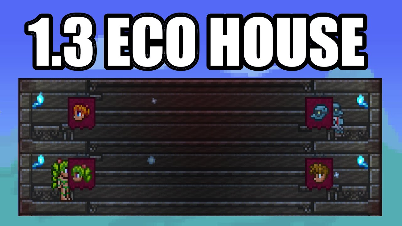 Eco house npc farm terraria 1 3