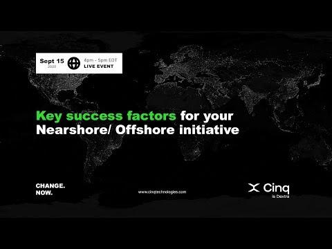 WEBINAR | Key success factors for your Nearshore/ Offshore initiative