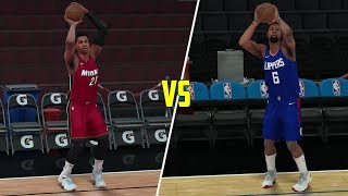 Who can hit a three pointer first? hassan whiteside or deandre jordan? nba 2k18 challenge!