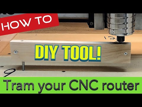 How To Tram Your CNC Router Without Expensive Tools Shapeoko