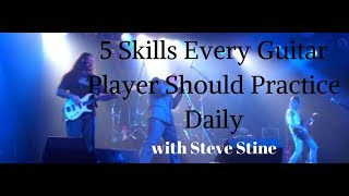 5 Skills Every Guitar Player Should Practice Daily
