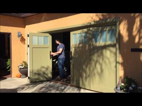 Sliding Bi Fold Carriage Garage Doors San Diego Youtube