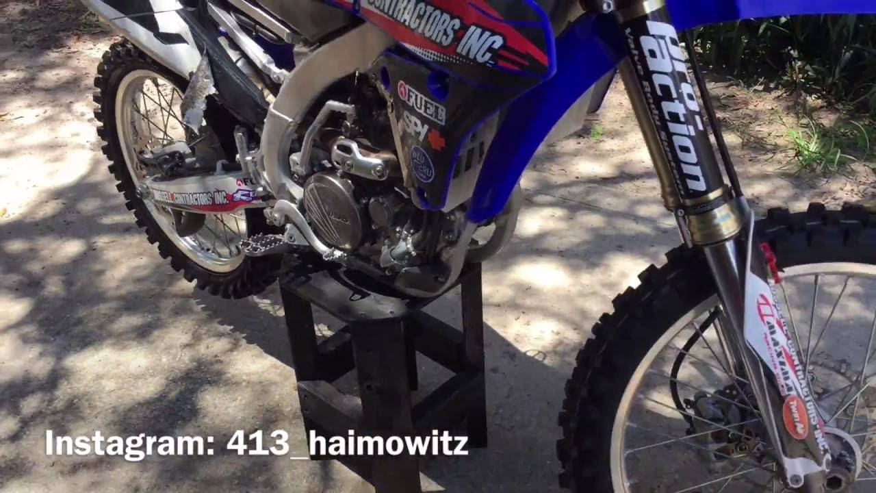 How to make a dirt bike stand out of wood youtube for How to make a bike stand out of wood