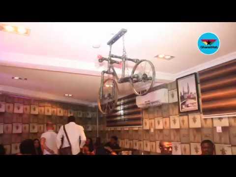 Asamoah Gyan opens BJ's Sports Bar at Osu