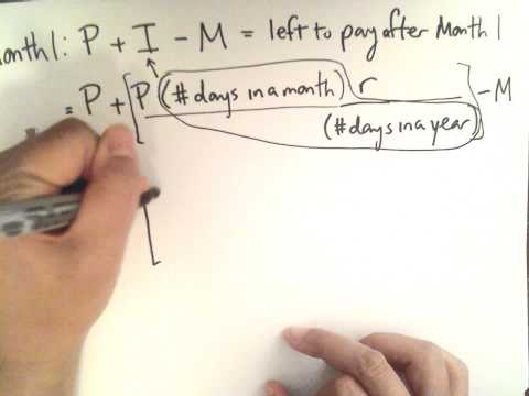 Loan monthly payment formula part 1