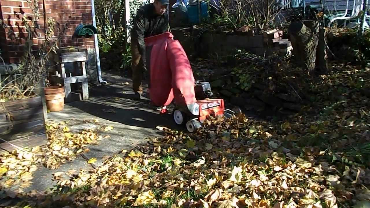 Leaf Vacuum And Shredder Machine