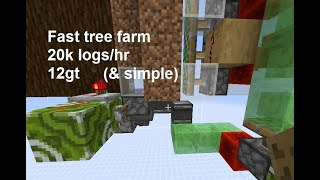 1.15 Fast and simple tree farm using piston mechanics (12 gt, 20k spruce/hr).  Spruce, birch, oak.