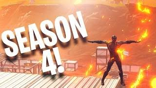 Season 4 Tier 100 UNLOCKED : First Game 22 Kill WIN! - Fortnite Battle Royale Update