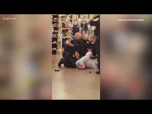 Man arrested at Tumwater Fred Meyer for pointing gun at customer who told him to 'put on a mask'