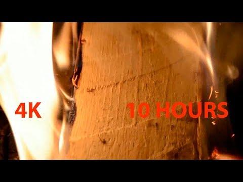 4К камин для релаксации и сна.  🔥  Расслабляющий звук огня. 10 часов. Relaxing fireplace. 10 hours