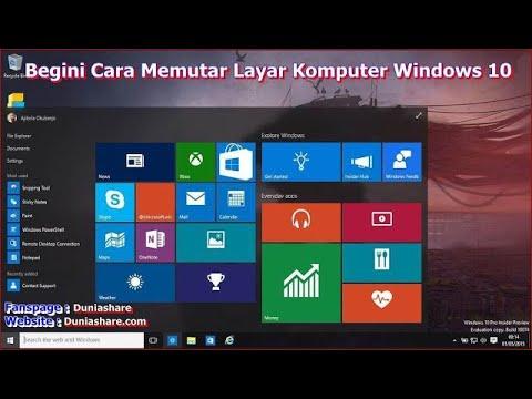 Begini Cara Memutar Layar Komputer Windows 10,7 dan 8 - YouTube
