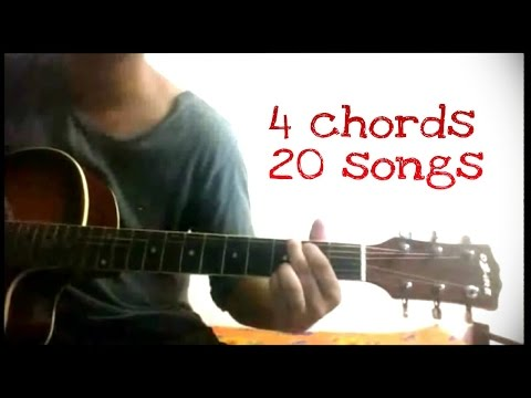 Play 20 Hindibollywood songs on guitar using just 4 chords