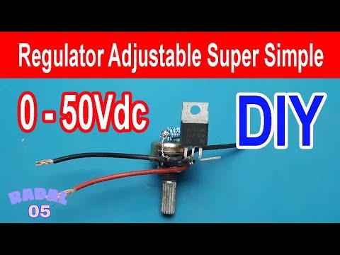 Cara membuat regulator adjustable 0V to 50V Ide Kreatif DIY Rangkaian Penurun Tegangan 24V, 12V, 5V